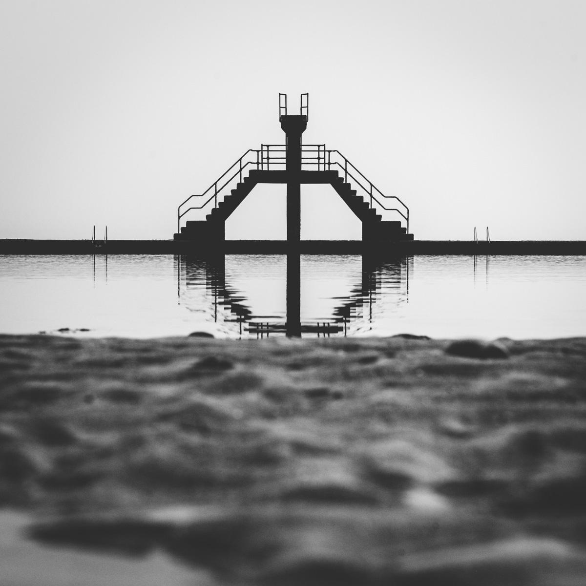 La piscine de la plage de Saint Malo