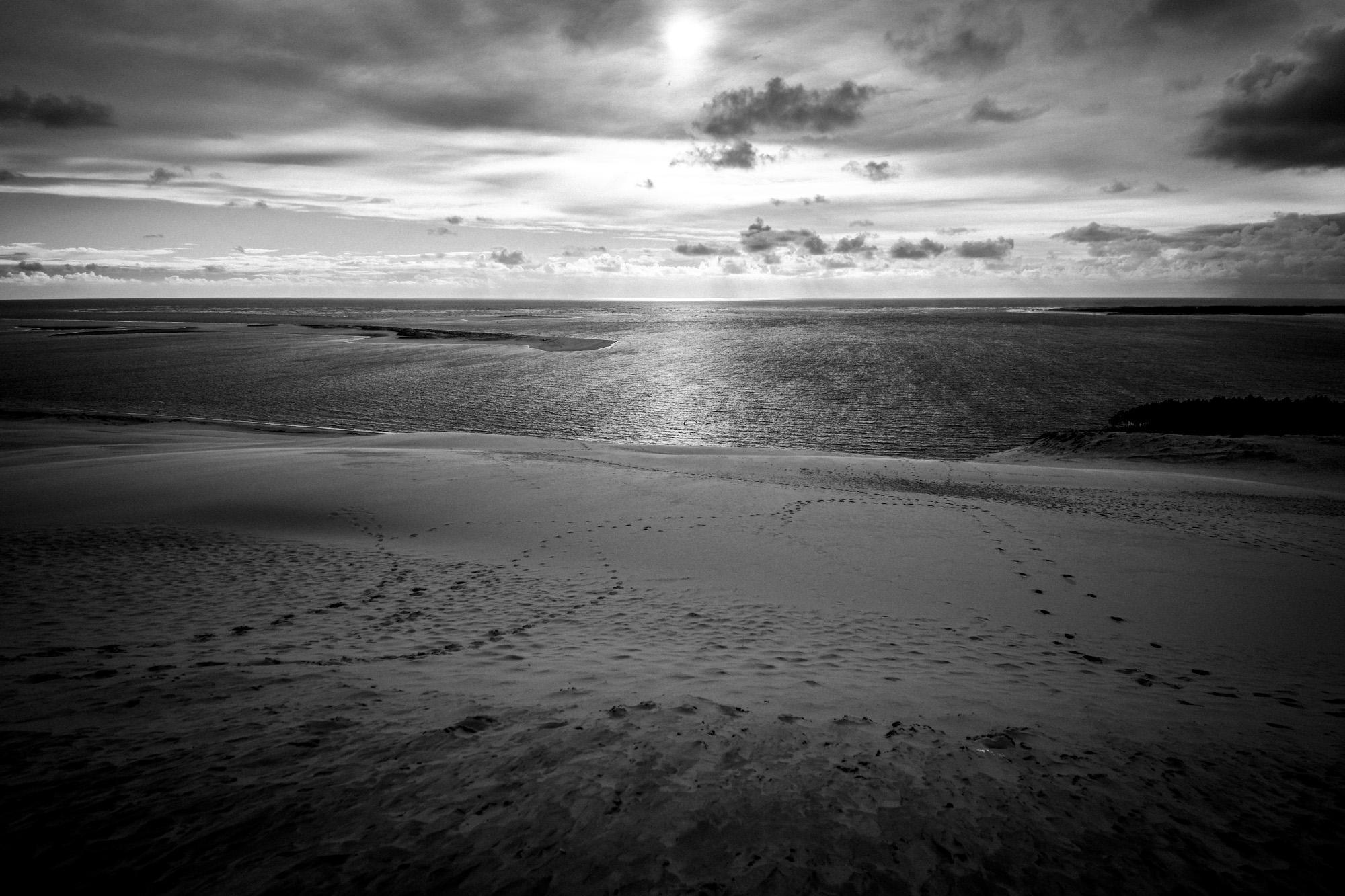 Couché de soleil sur la Dune du Pilat