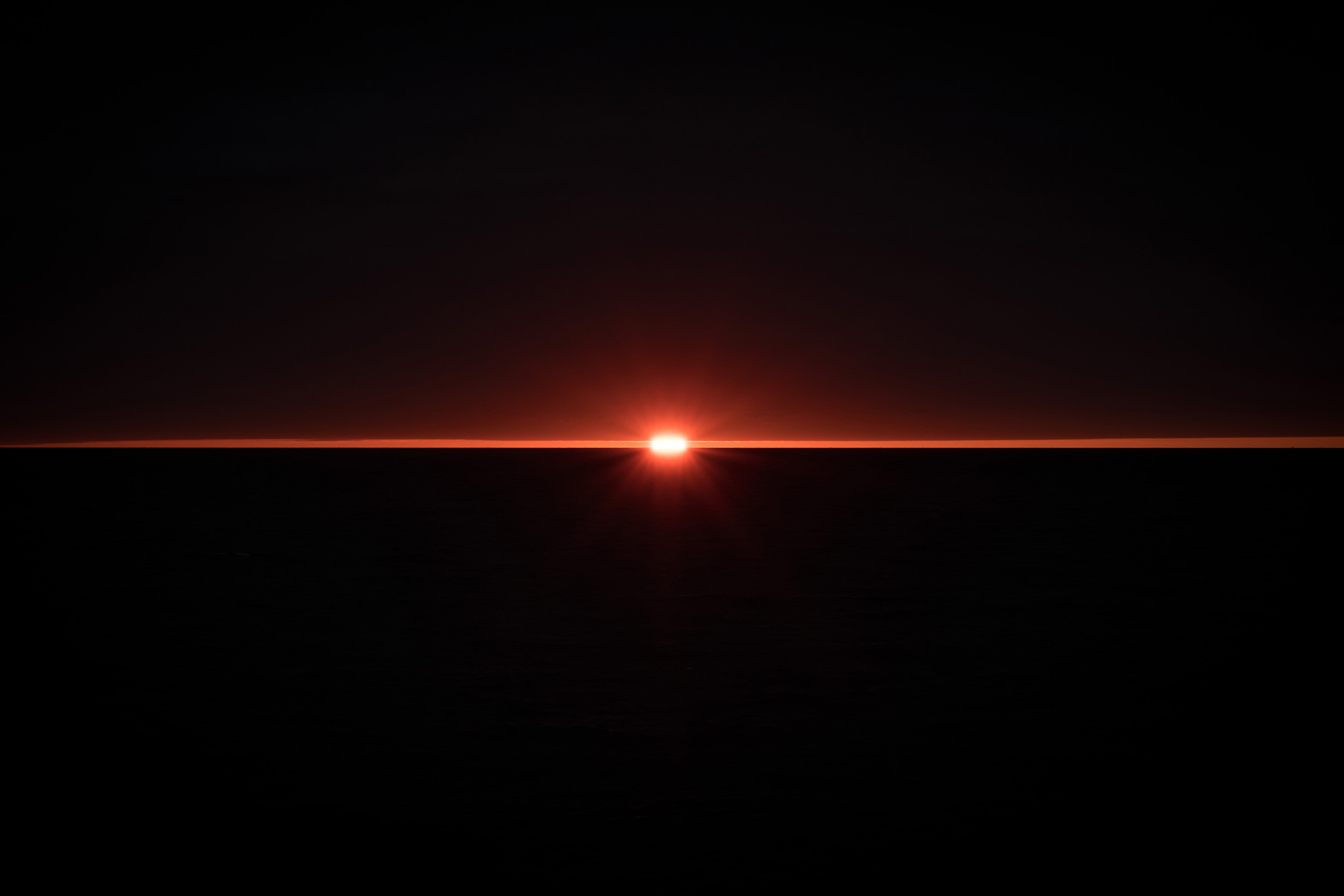 Levé de soleil à Penthièvre sur la route de Quiberon